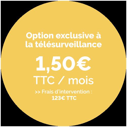 Prix de l'option détecteur de fumée - 1,50€ TTC / Mois