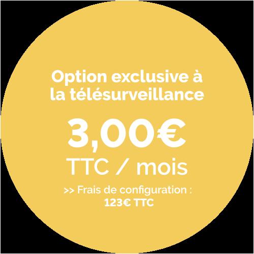 Prix de l'option Détecteur d'ouverture avec sabot de porte - 3,00€ TTC / Mois