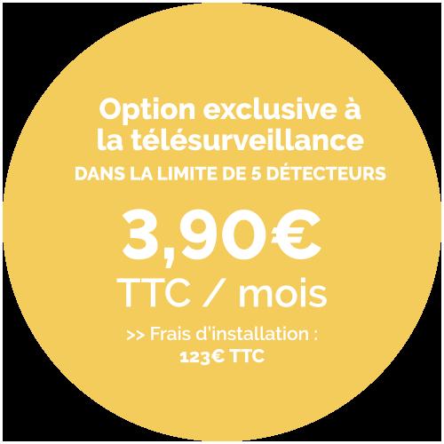 Prix de l'option Détecteur Visio Image - 3,90€ TTC / Mois