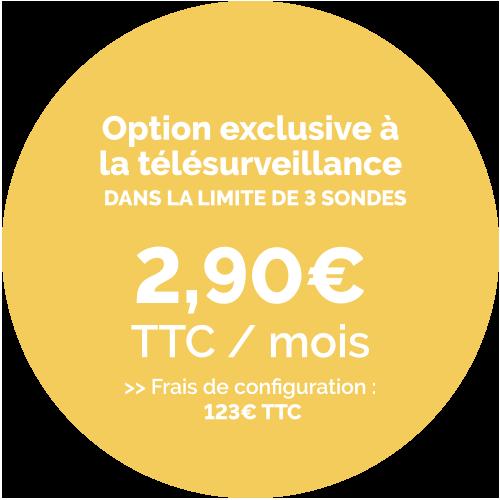Prix de l'option sonde inondation - 2,90€ TTC / Mois