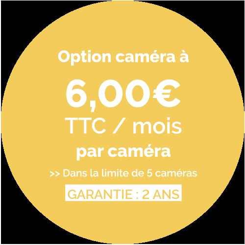 Prix de l'option caméra torus - 6,90€ TTC / Mois