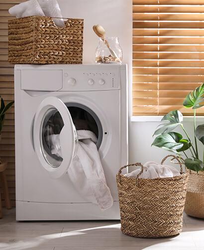Machine à laver protégée par une sonde inondation